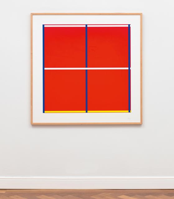, 'Rot mit Kreuz,' 1995, Ludorff
