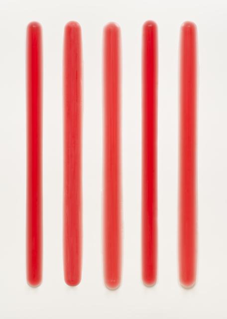 Peter Alexander, 'Five Part Bars (Red)', 2013-2014, Brian Gross Fine Art