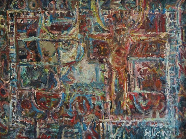 John Bellany R.A., 'Religious thought 1962', 1962, Castlegate House Gallery