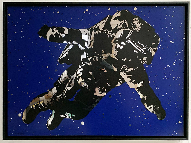 Victor Ash, 'Flying Astronaut (Mirror Edition)', 2020, Print, 2-color hand pulled serigraph high-quality paint printed on mirror, Urban Spree Galerie
