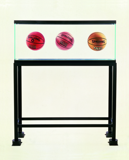 , 'Three Ball Total Equilibrium Tank (Two Spalding Shaq Attaq, One Spalding NBA Tip-Off),' 1986, Museo Jumex