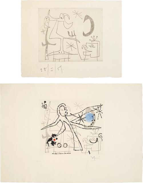 Joan Miró, 'L'oiseau dressé (Standing Bird): two impressions', 1960, Phillips
