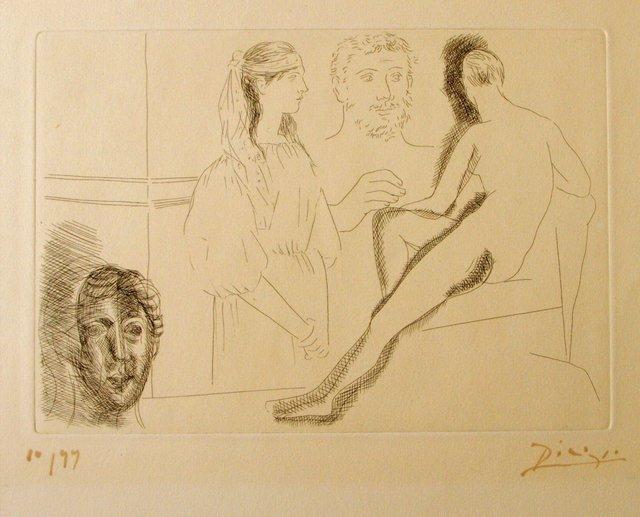 Pablo Picasso, 'Sculpteur Devant sa Sculpture', 1927, Wallector
