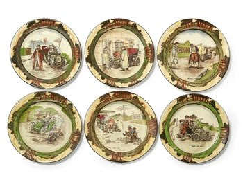 six Early Motoring Series ware plates