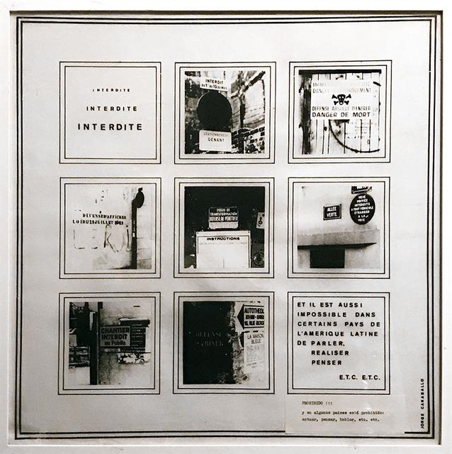 , 'Interdite,' 1973, Galería del Paseo