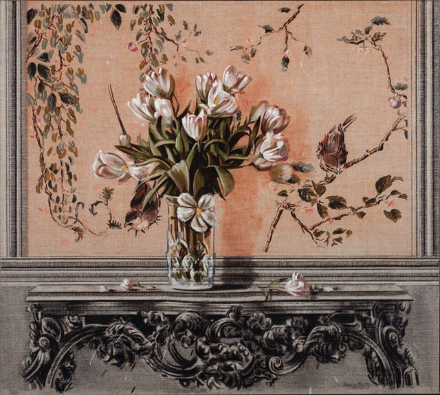 , 'Quelques fleurs tombées sur la table,' 2013, Galerie de Bellefeuille