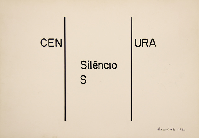 , 'No Title - Visual Poem,' 1973, Roberto Alban Galeria de Arte