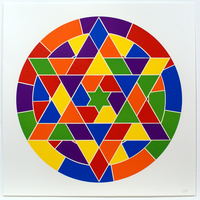 Sol LeWitt, Tondo 4 (6 point star)