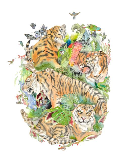 , 'Tiger Mandala #1,' 2017, Morgan Lehman Gallery