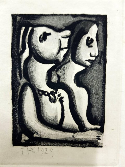 """Georges Rouault, 'Original Etching """"Ubu the King VII"""" by Georges Rouault', 1955, Galerie Philia"""