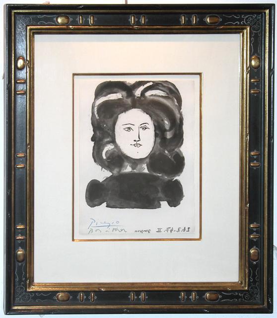 Pablo Picasso, 'Buste de Femme de Face from Gongora, Vingt Poemes', 1947, Galerie Maximillian