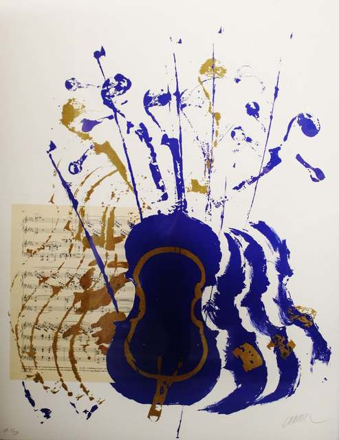 Arman (1928-2005), 'Violons bleus', ca. 1998-2000, Art Life Gallery