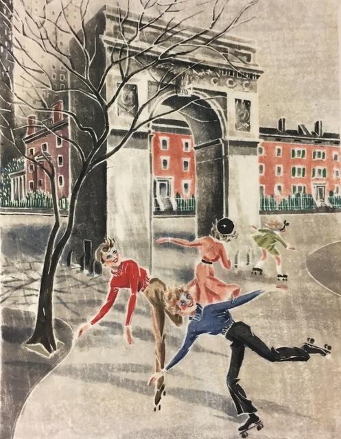 Virginia Bill, 'Skaters in Washington Square (NYC)', ca. 1940, Susan Teller Gallery