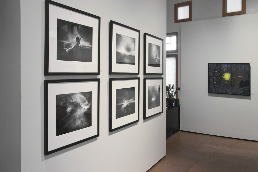 Images by Angela Bacon-Kidwell and Thomas Jackson installed in photo-eye Gallery's main room.