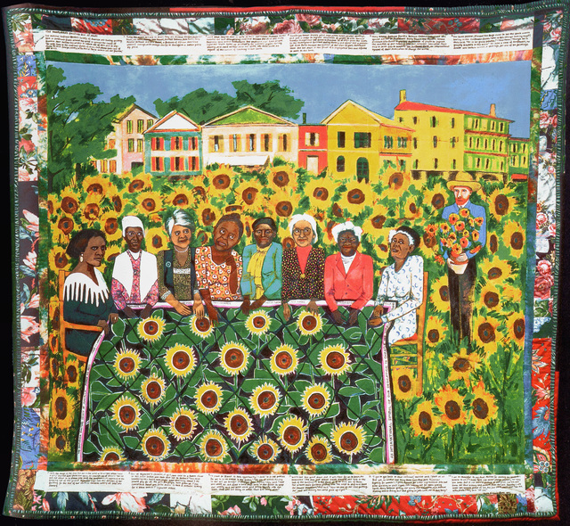 Faith Ringgold, 'The Sunflower Quilting Bee at Arles', 1997, Print, Silkscreen, Children's Museum of the Arts Benefit Auction