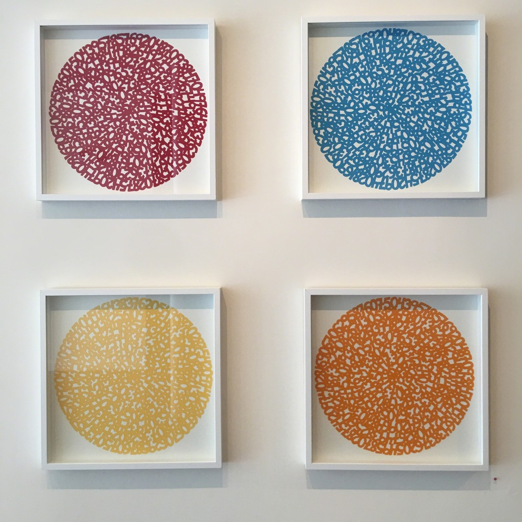 """Concentric Red, Blue, Yellow and Orange"" by James Vance"