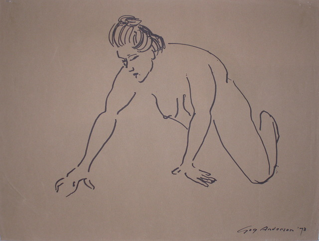 , 'Crouching Female Nude ,' , WaterWorks Gallery