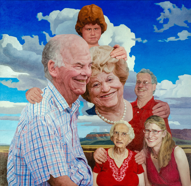 Colin Chillag, 'Western Family', 2020, Painting, Oil on canvas, The Secret Gallery