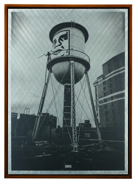 Shepard Fairey (OBEY), 'Covert to Overt: Icon Water Tower', 2015, Underdogs Gallery