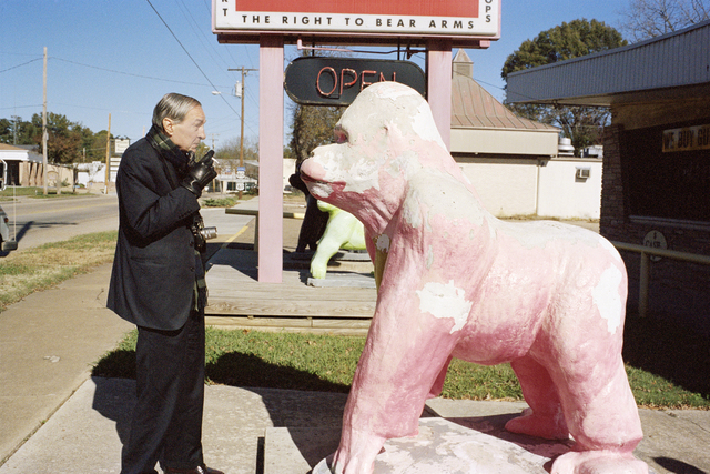 , 'William Eggleston and Pink Gorilla, Memphis,' 2010, Christine König Galerie