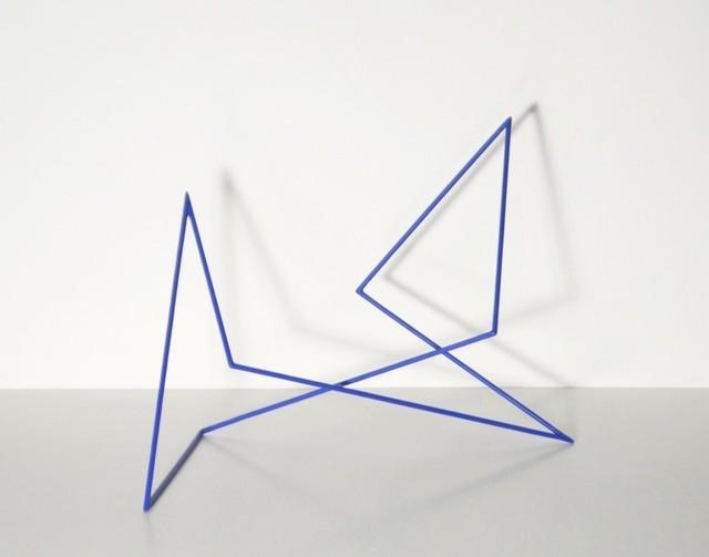 , 'Trait 46 bleu,' 2013, Galerie Marie-Robin