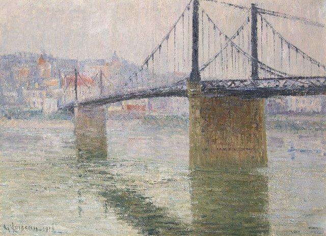 , 'Le Pont suspend de Triel sur Seine,' 1915, Trinity House Paintings