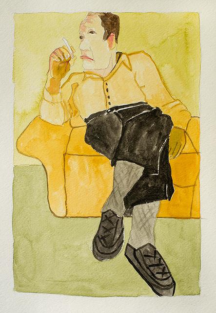 , 'Ostracizer, Onkel Heini (study),' 2017, Jonathan Ferrara Gallery