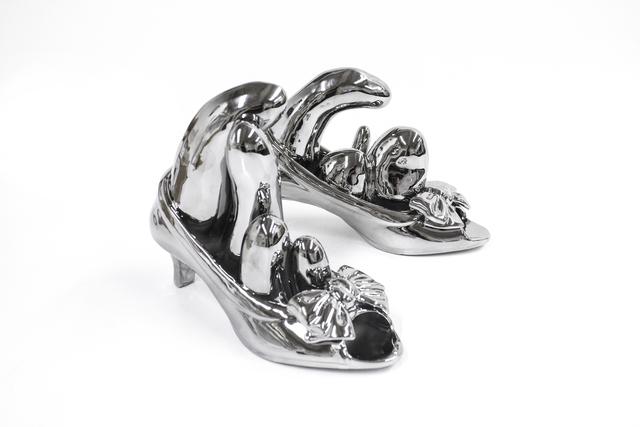 , 'Bow Shoes (Silver), ed. 5/30,' 2013, Goya Contemporary/Goya-Girl Press