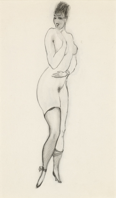 , 'Girl with Garter, double-sided,' ca. 1919, Galerie Bei Der Albertina Zetter