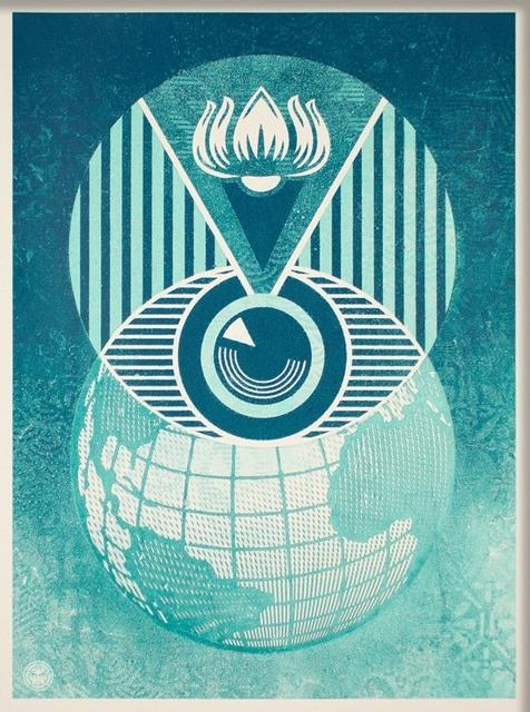 Shepard Fairey, 'Flint Eye Alert Globe', 2017, Art276