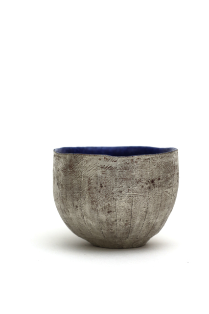 Yasushi Fujihira, 'Tea bowl with silver and lapis glaze', 2018, Ippodo Gallery
