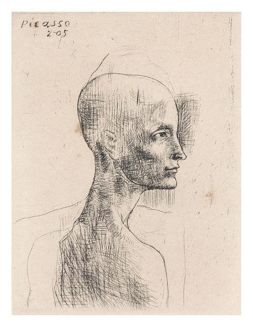 Pablo Picasso, 'Buste D'Homme (Bloch 4)', 1905, Doyle