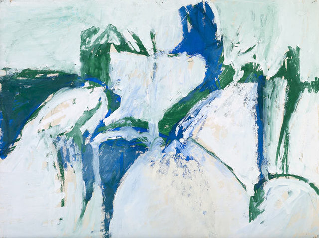 , 'Untitled (Blue, Green, and White),' ca. 1955, Berry Campbell Gallery
