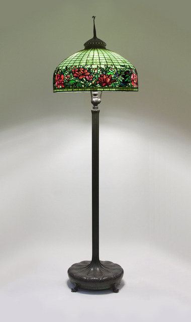, 'Peony Border Senior Floor Lamp,' ca. 1910, Lillian Nassau LLC