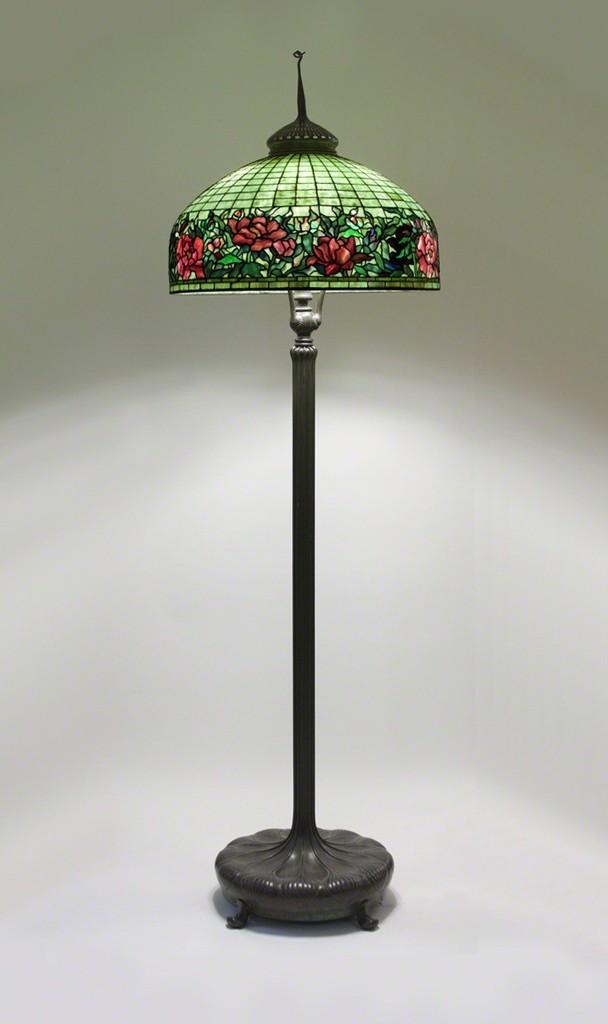 Tiffany Studios Peony Border Senior Floor Lamp Ca 1910