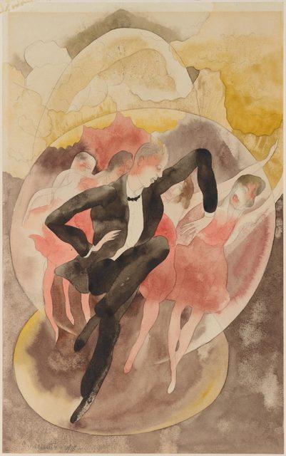 , 'In Vaudeville (Dancer with Chorus),' 1918, Philadelphia Museum of Art