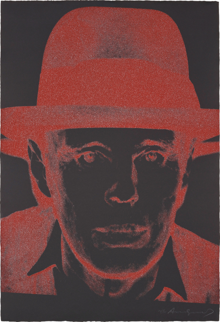 Andy Warhol, 'Joseph Beuys', 1980, Print, Screenprint in colours with diamond dust, on Arches Cover Black paper, the full sheet., Phillips