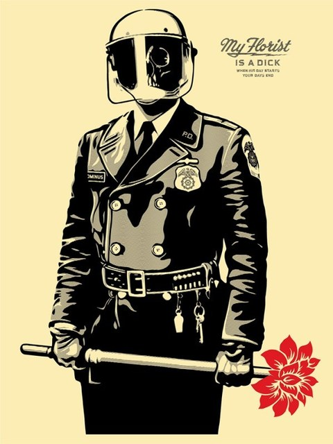 Shepard Fairey (OBEY), 'My Florist Is A Dick', 2015, New Union Gallery