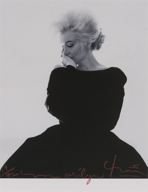 Bert Stern, 'Marilyn Monroe looking pensive in black Dior dress, from The Last Sitting for Vogue', 1962, Doyle