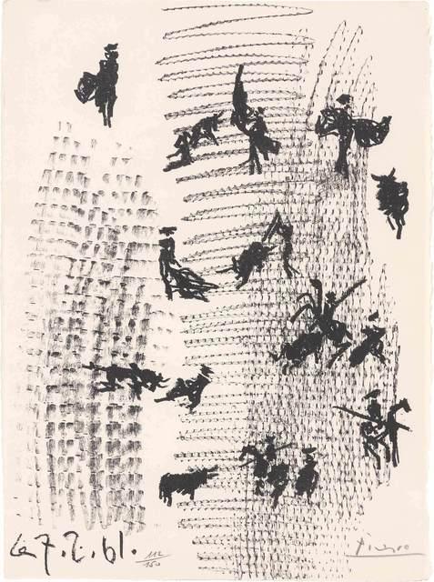 Pablo Picasso, 'TOROS Y TOREROS (B. 1012; M. 345; SEE C. BOOKS 112)', 1961, Doyle