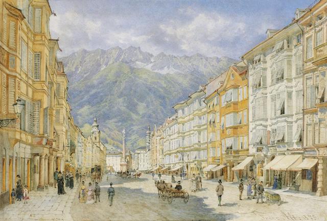 , 'The Maria Theresien Street in Innsbruck,' 1873, Galerie Kovacek & Zetter