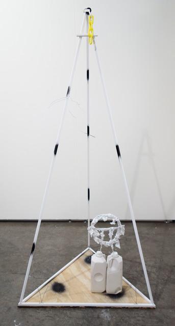 Tom Holmes (b. 1979), 'untitled Arrangement', 2013, Sculpture, Powder coated steel, plywood, hydrocal, aluminum, plastic chain, enamel, Bureau