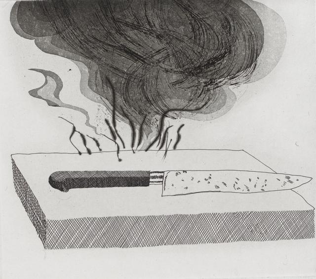 David Hockney, 'The Carpenter's Bench, a Knife and Fire', 1969, Marlborough Graphics