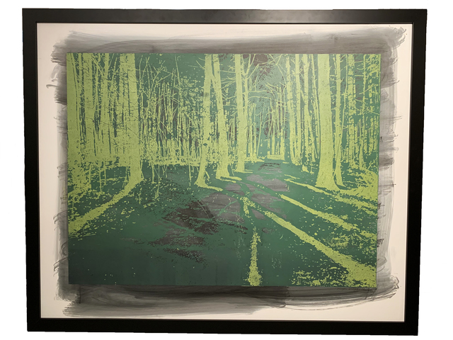 Natanel Gluska, 'Forest in Green', 2016, Ronen Art Gallery