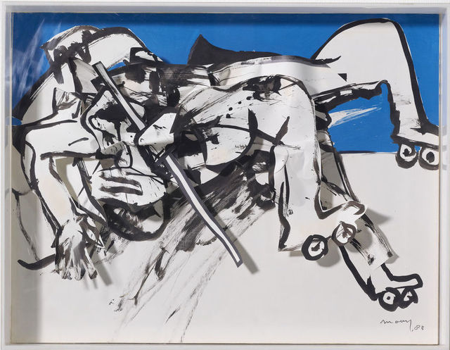 , 'Rollskating on Sideways,' 1983, BorzoGallery