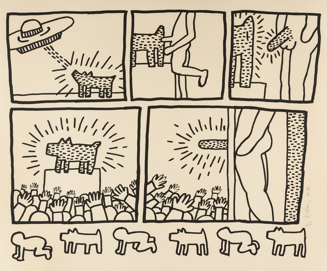Keith Haring, 'The Blueprint Drawings (see Littmann p.177)', 1990, Forum Auctions