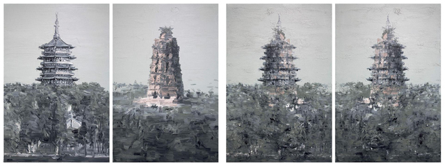 , 'Images of mutual undoing and unity - Leifeng Pagoda (4 works) ,' 2009, Tang Contemporary Art