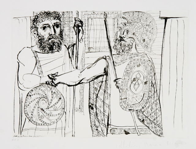 Pablo Picasso, 'Etude Pour Lysistrata', 1973, Print, Lithograph on Arches Paper, RoGallery