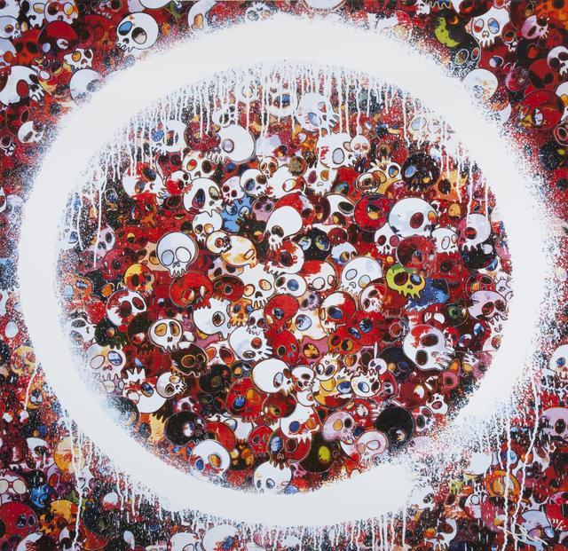 Takashi Murakami, 'Ensō: Memento Mori Red on Blue', 2016, Julien's Auctions