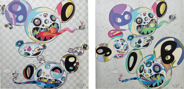Takashi Murakami, 'Parallel Universe; and Spiral', 2014, Print, Two offset lithographs in colours, on smooth wove paper, the full sheets, Phillips